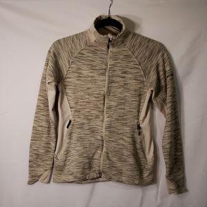 Columbia Grayish Green and Taupe Knit Jacket